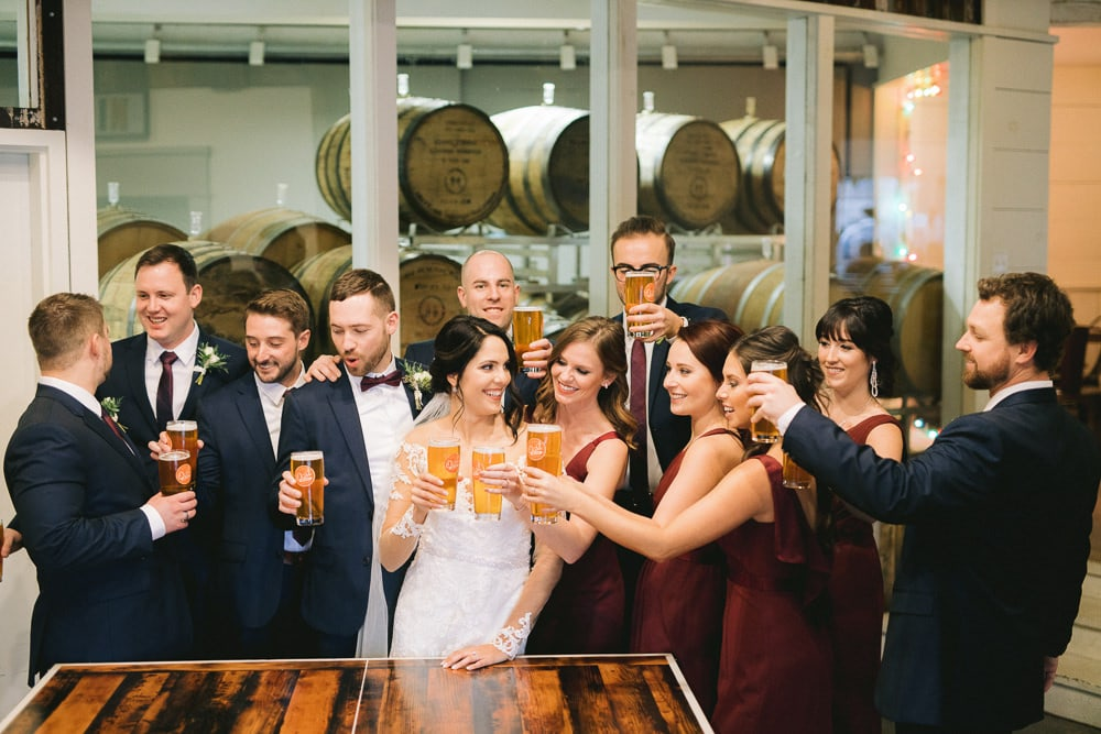 Wedding party at Oast House in Niagara-on-the-Lake