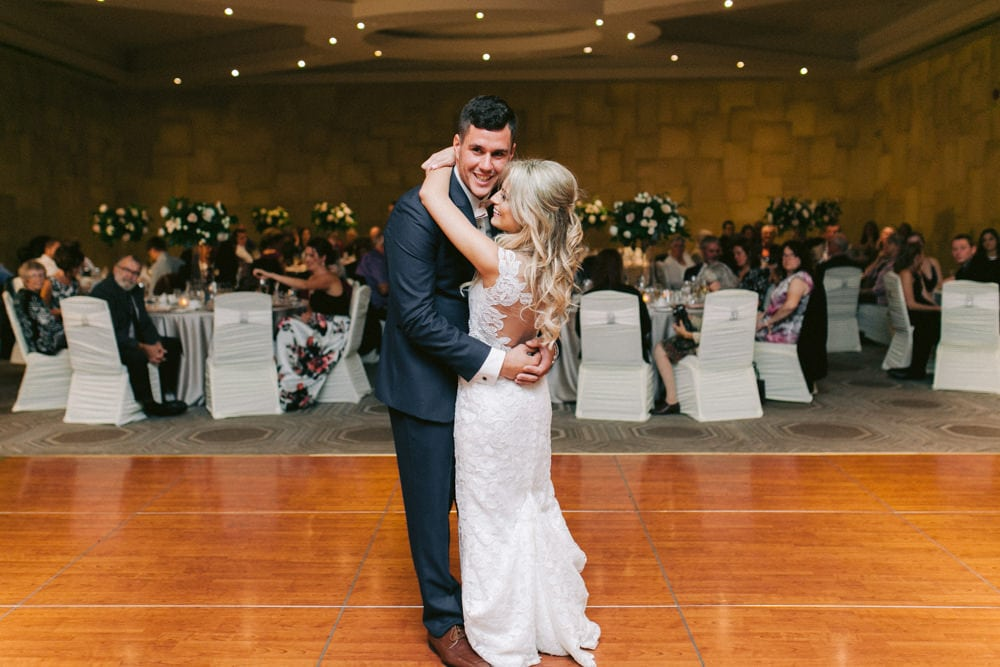 Bride and Groom First Dance at White Oaks Wedding Reception