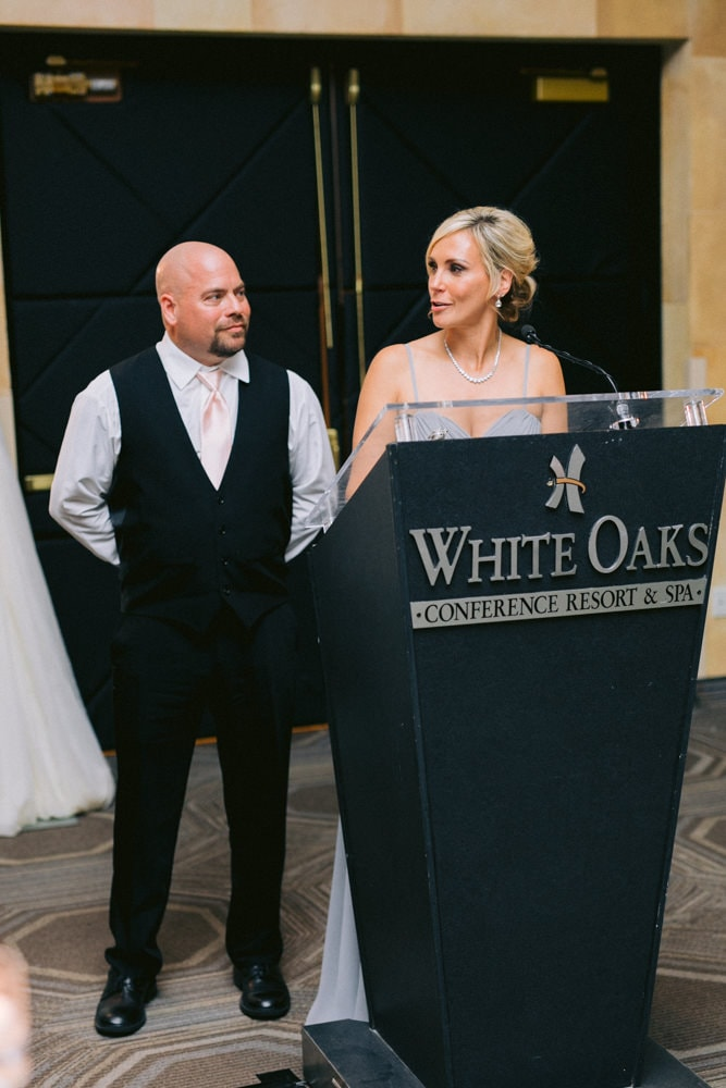 Parents of the bride speech at White Oaks Wedding Reception
