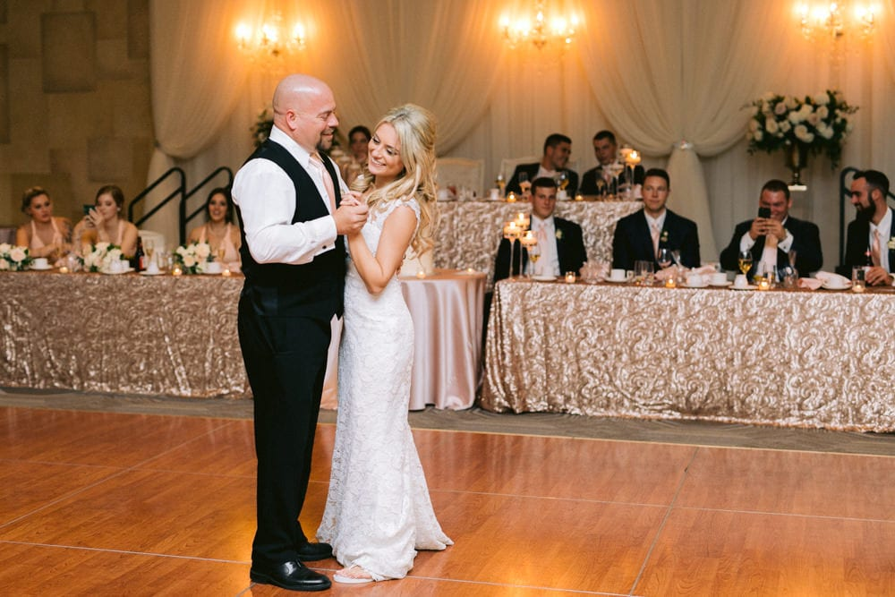 Father & Bride dance at White Oaks Wedding Reception