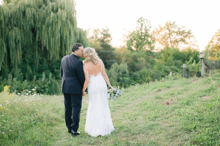 Ravine Vineyard Wedding Photos at Sunset