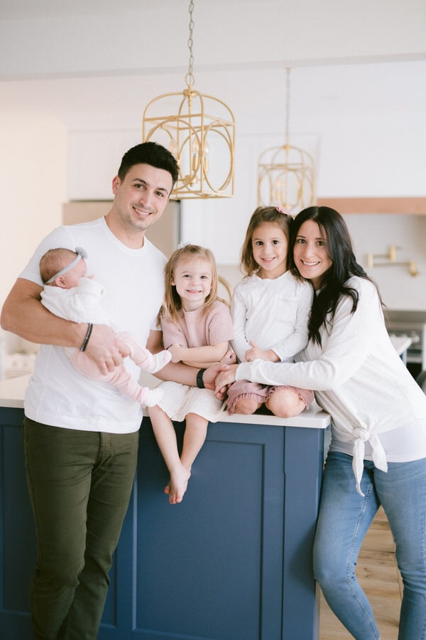 cozy in-home family session