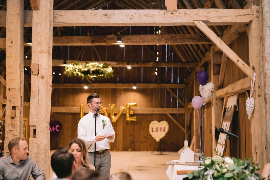 Maple Meadows Farm Wedding Reception